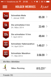 Zeit Nike-App